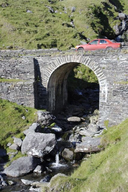 Driving across a Mountain Bridge on the Beara Peninsula