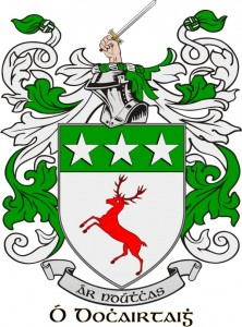O' Doherty Irish surname & coat of arms