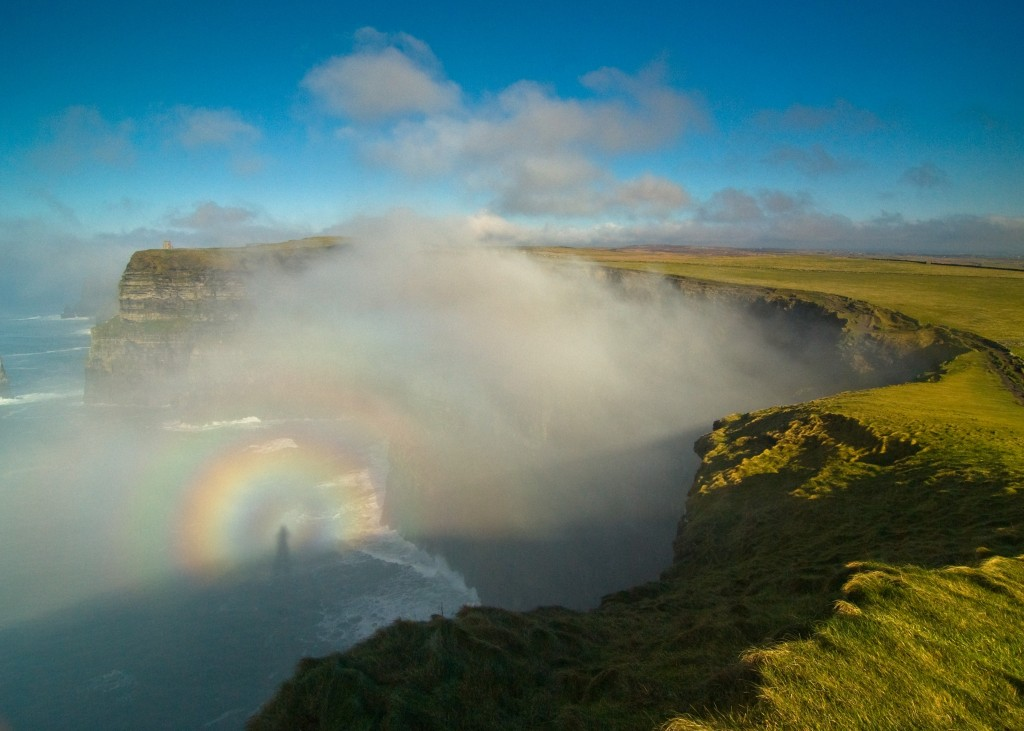 Cliffs of Moher (Image: Brocken Spectre at the Cliffs of Moher by Sean Tomkins)