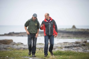 Channel 4's Phil Spencer filming along the Wild Atlantic Way 2,500km route.