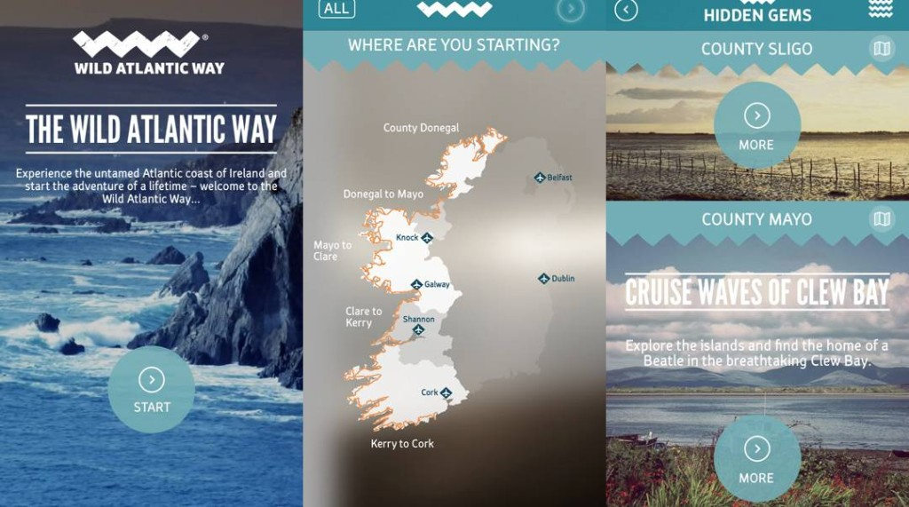 Failte Ireland has just launched an app- the Definitive Guide to the 2,500km Wild Atlantic Way Coastal Route.