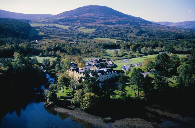 Sheen Falls Lodge in County Kerry which has ranked number one in the Top 10 Resorts in Europe list by Condé Nast Traveler Magazine.