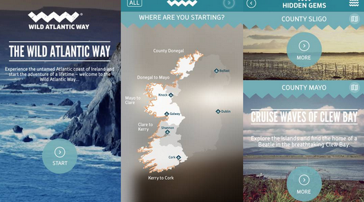 The new Fáilte Ireland Wild Atlantic Way app features 160 discovery points as well as tips from locals.