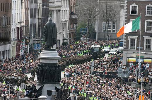 The 1916 Commemorations were just one of the reasons given for the rise in tourists visiting Ireland in the first quarter of 2016.