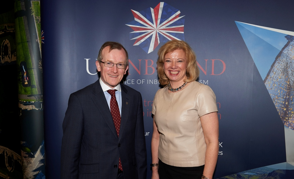 Niall Gibbons, CEO of Tourism Ireland, and Deirdre Wells, CEO of UKInbound, at ExploreGB in Brighton.